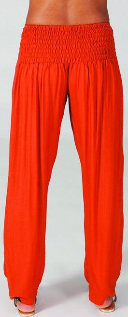 Pantalon femme taille basse Original et Ethnique Giulio Rouille 274710