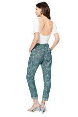 Pantalon femme taille élastique bohème Lucius