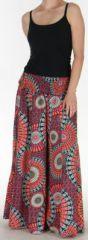 Pantalon Femme très Large Ethnique et Coloré Jorris Orange 275475