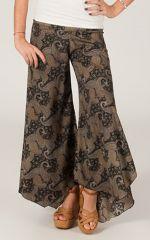 Pantalon femme Très Original et Fluide Antoine Noir à Batiks 284568