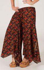Pantalon femme Très Original et Fluide Antoine Noir et Rouge 284560