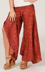 Pantalon femme Très Original et Fluide Antoine Rouge à Batiks 284572