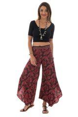 Pantalon fluide coupe asymétrique avec motifs ethniques Pembroke 290149