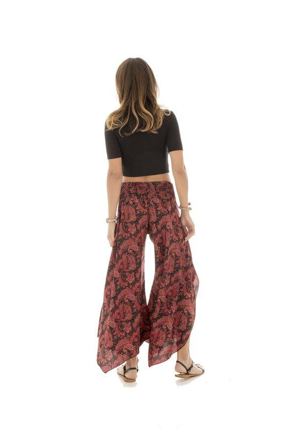 Pantalon fluide coupe asymétrique avec motifs ethniques Pembroke 290150