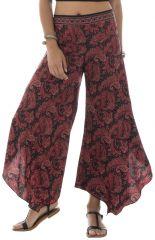 Pantalon fluide coupe asymétrique avec motifs ethniques Pembroke 292010