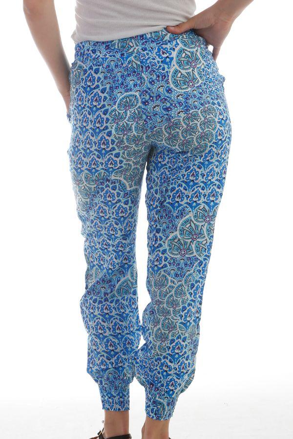 Fluide Et Exotique Bleu Pantalon Ethnique Femme Pour Donama D'été Z7Bzfqw4R
