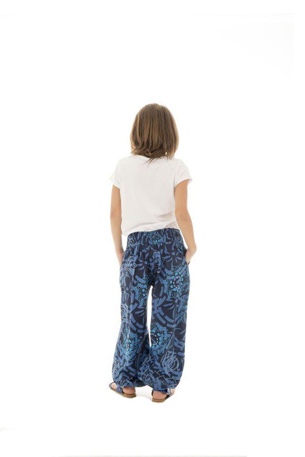 Pantalon fluide fantaisie coupe droite smocké au dos Perla 294651