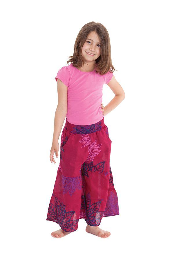 Pantalon fluide Fushia pour Enfant Imprimé et Original Berlioz 279919