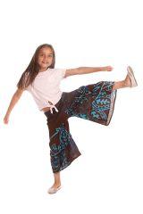 Pantalon fluide Imprimé et Original pour Enfant Berlioz Brun et Bleu 279924