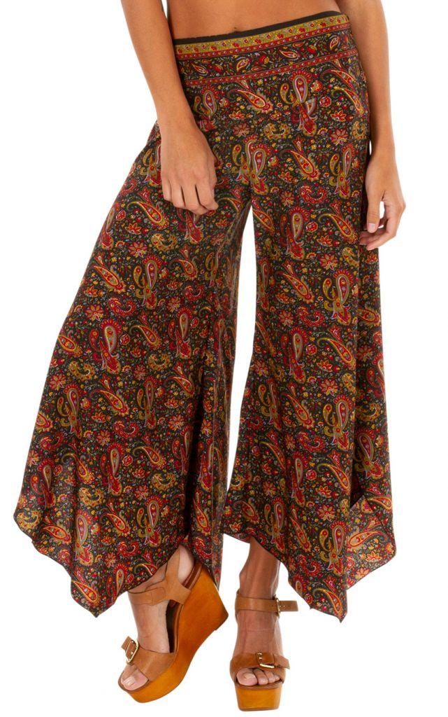 Pantalon fluide imprimé patte d'eph pour femme Naomie 309732