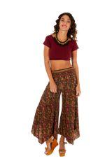 Pantalon fluide imprimé patte d'eph pour femme Naomie 309733