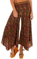 Pantalon fluide imprimé patte d'eph pour femme Naomie 315580