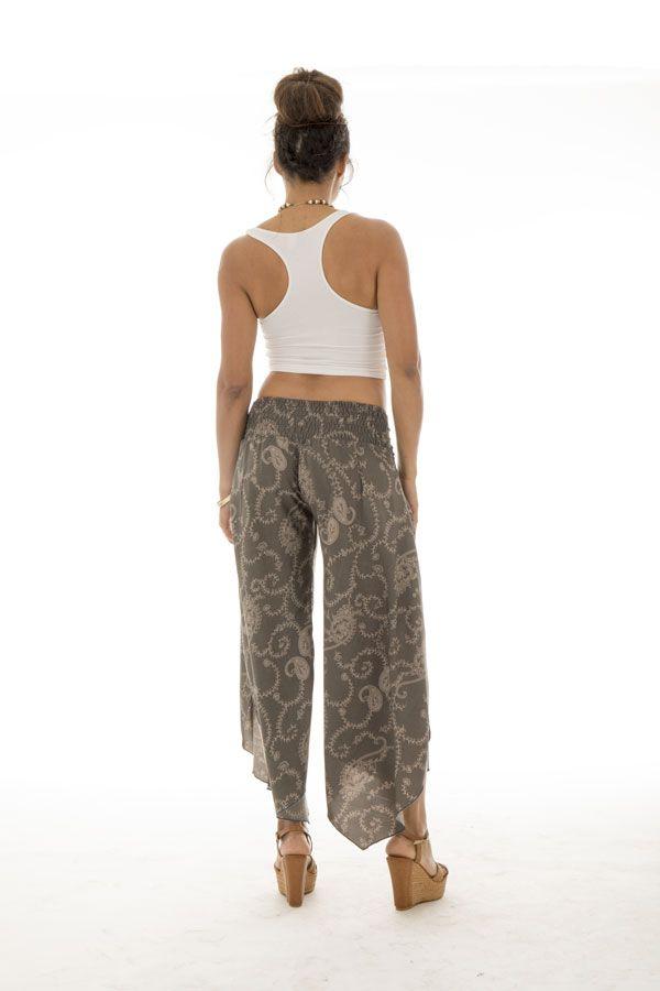 Pantalon fluide original avec coupe asymétrique Maureen 289351