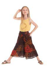Pantalon fluide pour Enfant Imprimé et Original Berlioz Orange 279918
