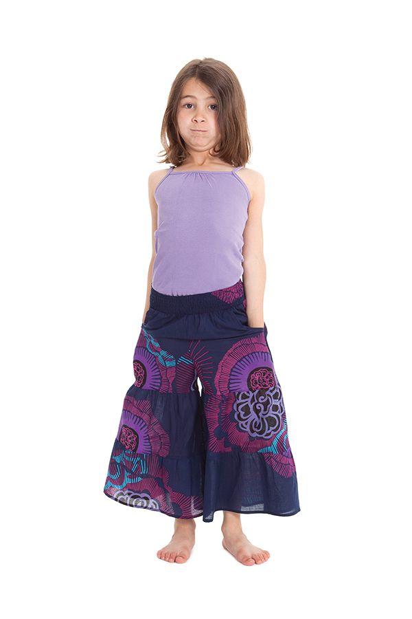 Pantalon fluide pour Enfant Imprimé et Original Berlioz Violet 279910