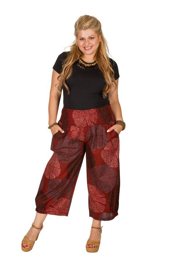 Pantalon fluide taille élastiquée femme grande taille Diego 308084
