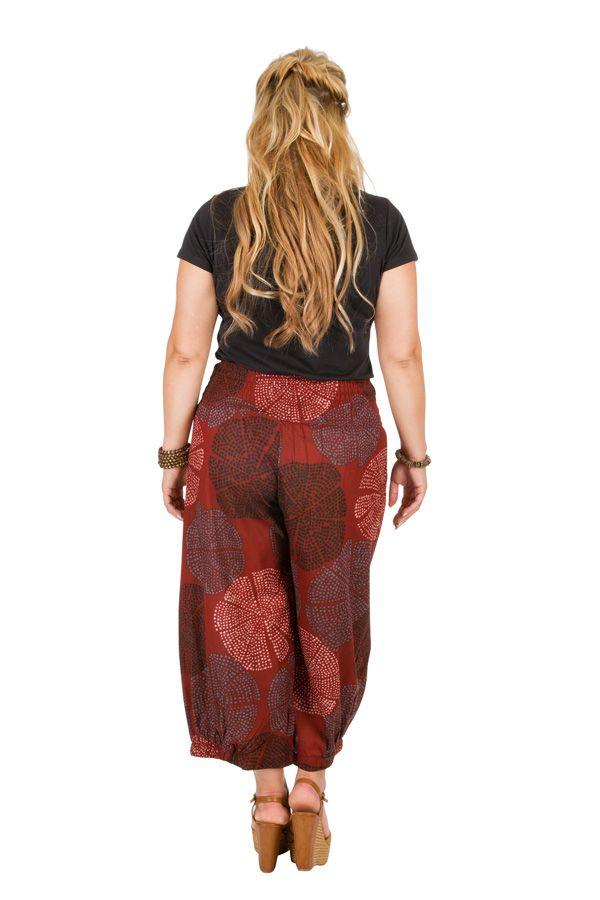Pantalon fluide taille élastiquée femme grande taille Diego 308085
