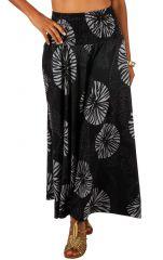 Pantalon fluide taille élastiquée imprimé original femme Duni 309157