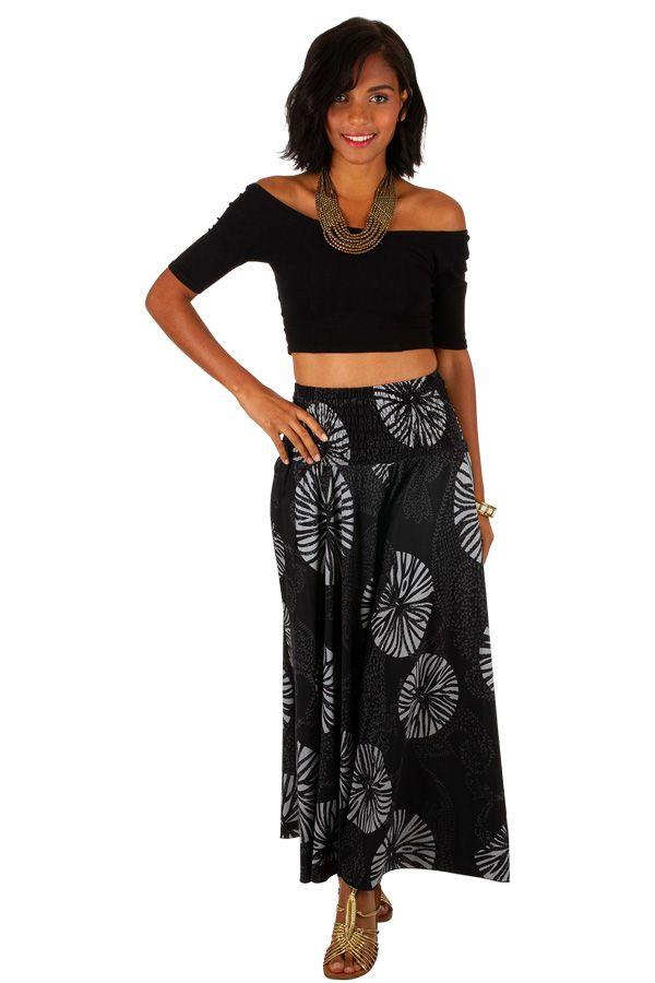 Pantalon fluide taille élastiquée imprimé original femme Duni 309158