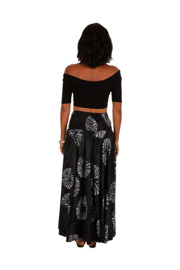 Pantalon fluide taille élastiquée imprimé original femme Duni 309159