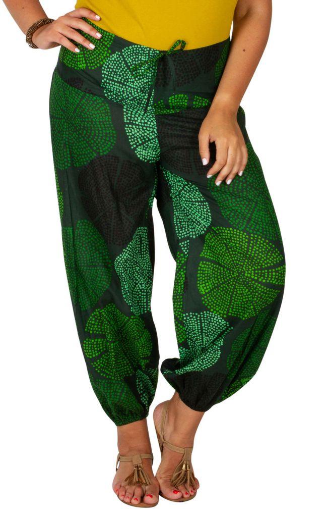 Pantalon grande taille ample et agréable vert Samba 309738