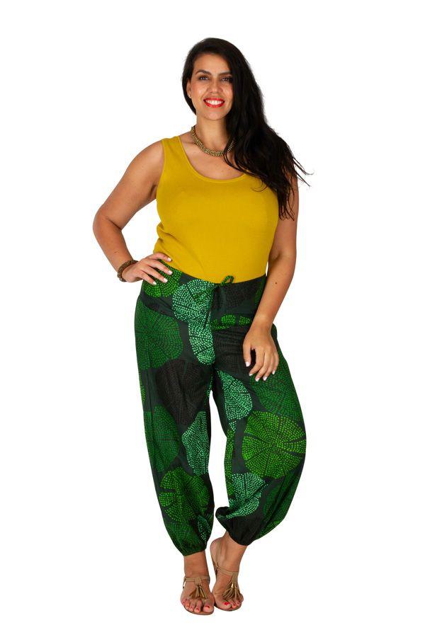 Pantalon grande taille ample et agréable vert Samba 309739