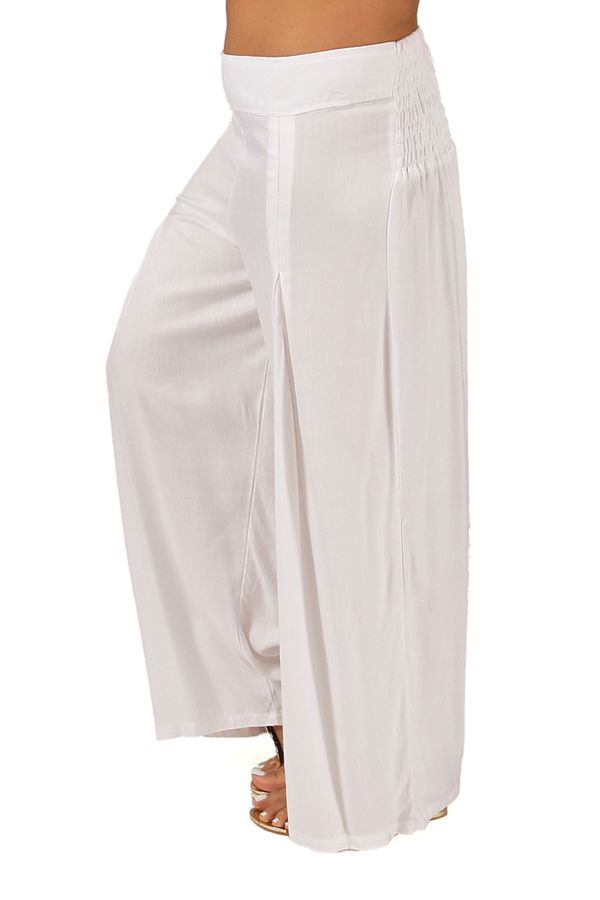 Pantalon Grande taille Ample et Fluide Mina Blanc 283801