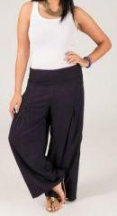 Pantalon Grande taille Ample et Fluide Mina Bleu Marine 269565