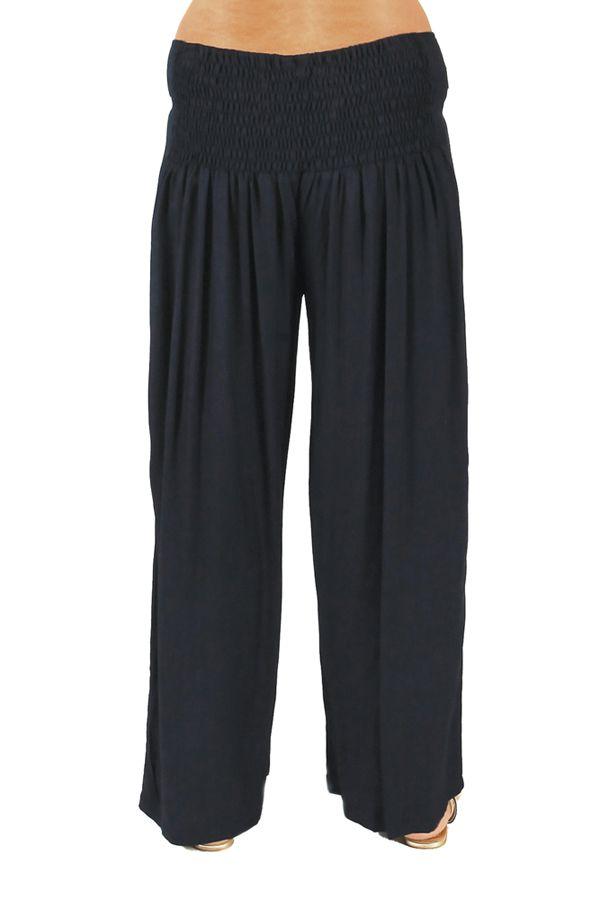 pantalon grande taille ample et fluide mina bleu marine. Black Bedroom Furniture Sets. Home Design Ideas