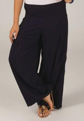 Pantalon Grande taille Ample et Fluide Mina Bleu Marine 317399