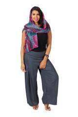 Pantalon Grande taille Ample et Fluide Mina Gris 283804