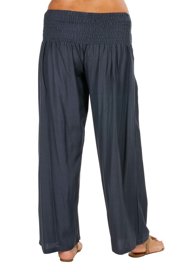 Pantalon Grande taille Ample et Fluide Mina Gris 317408