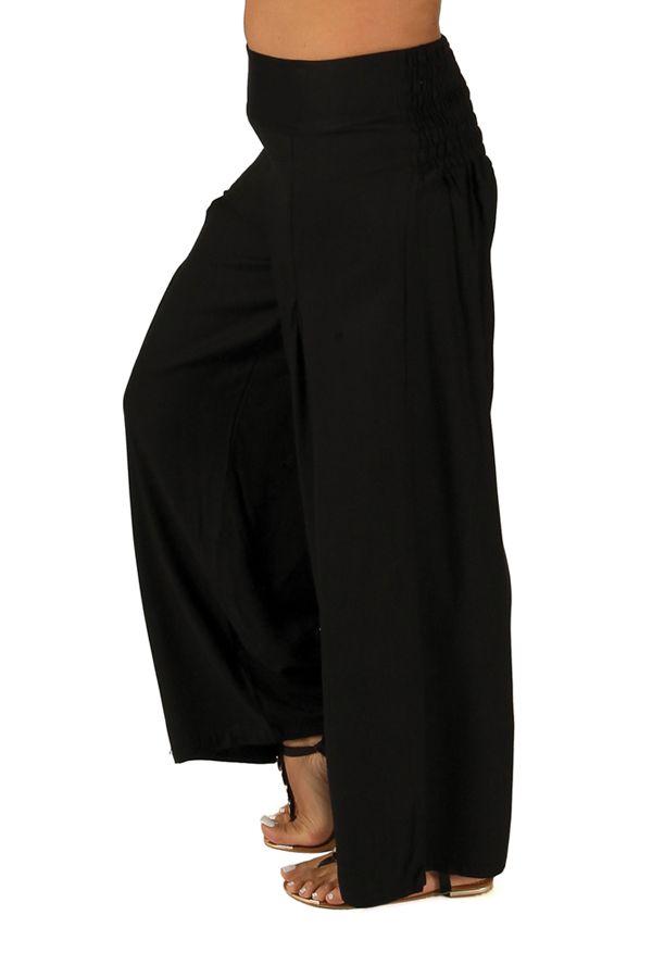 Pantalon Grande taille Ample et Fluide Mina Noir 283799