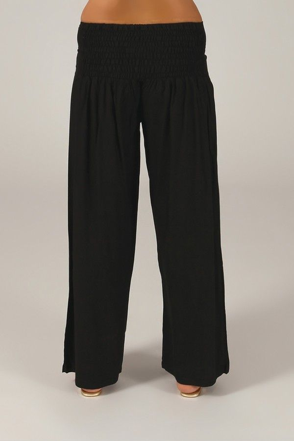 Pantalon Grande taille Ample et Fluide Mina Noir 317391