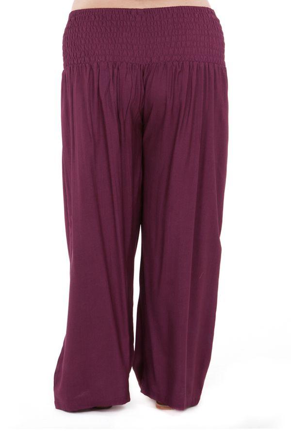 pantalon grande taille ample et fluide mina prune. Black Bedroom Furniture Sets. Home Design Ideas