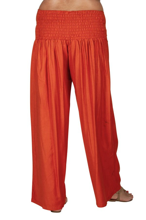Pantalon Grande taille Ample et Fluide Mina Rouille 317380