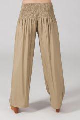 Pantalon Grande taille Ample et Fluide Mina Sable 317385