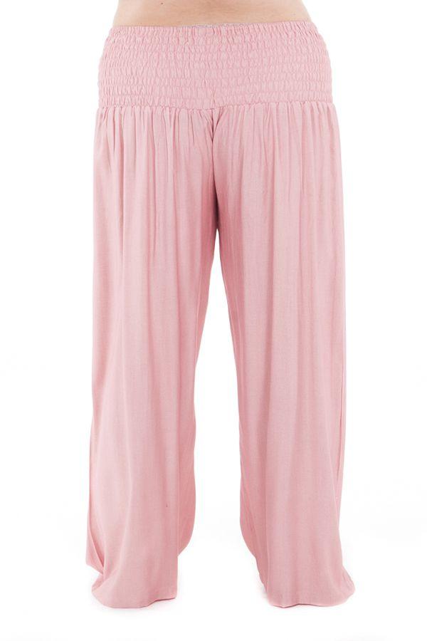 Pantalon Grande taille Ample et Fluide Mina Vieux Rose 283814