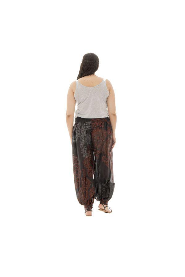 Pantalon grande taille avec imprimés et coupe bouffante Lara