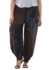 Pantalon grande taille avec imprimés et coupe bouffante Lara 312985