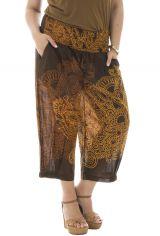 Pantalon grande taille coupe bouffante élastiqué aux chevilles Amazone 291902