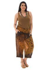 Pantalon grande taille coupe bouffante élastiqué aux chevilles Amazone 292554