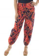 Pantalon grande taille fluide coloré en coton Perla 293583