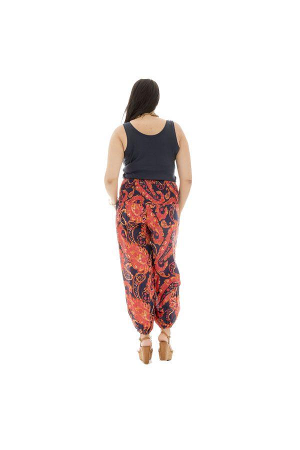 Pantalon grande taille fluide coloré en coton Perla