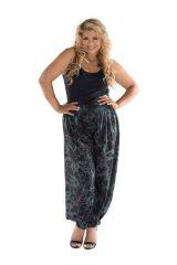 Pantalon grande taille imprimé à taille élastiquée Hanaé