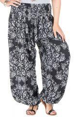 Pantalon grande taille imprimé élégant et coupe bouffante Galla 295081