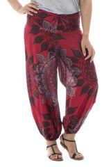 Pantalon grande taille imprimé mandala smcoké dans le dos Lova 291908