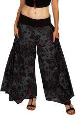 Pantalon gris et imprimé très tendance pour femme Raphael 309898