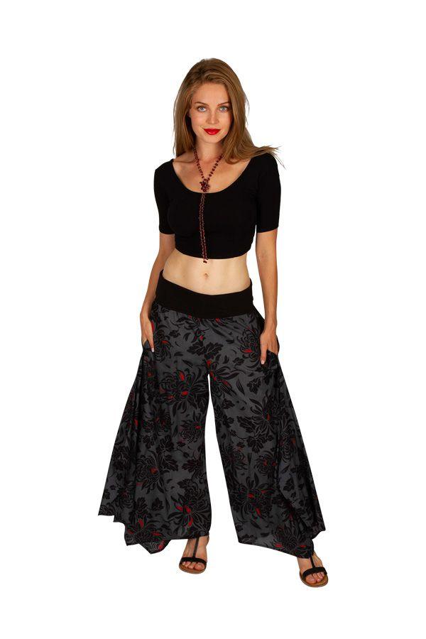 Pantalon gris et imprimé très tendance pour femme Raphael 309899