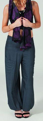 Pantalon Gris pour femme Fluide et Ethnique Cédric 274642